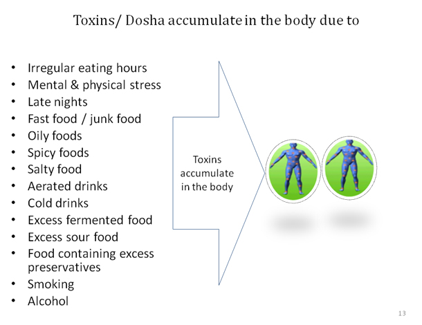 Toxins accumulate in the body